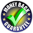 Money Back Guarantee Button/Label - blue version