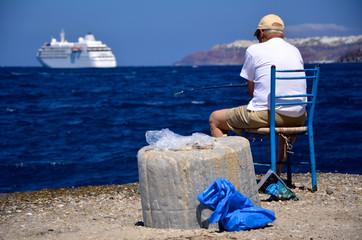Fischer - Santorin - Griechenland