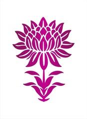 Indian lotus motif