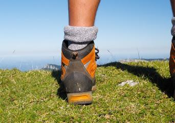 montagne,sommet,paysage,chaussures,randonnée