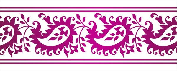 paisley floral border design