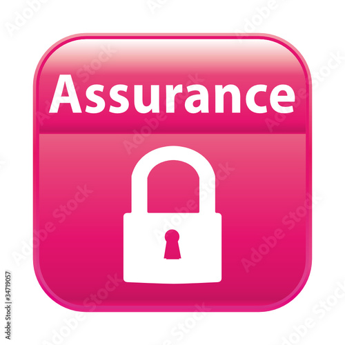 Bouton rose assurance
