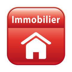 Bouton rouge section immobilier