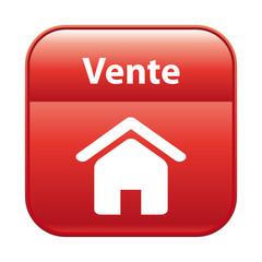 Bouton rouge vente immobilière