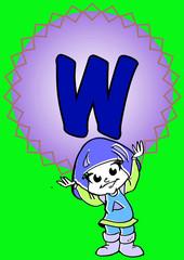 W-alphabeth for kids