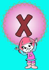 X-alphabeth for kids