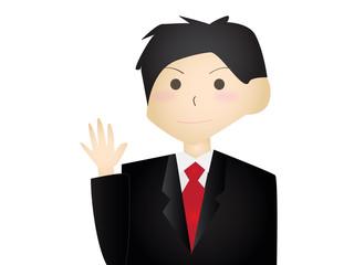 挨拶するビジネスマン