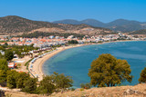 Fototapety Beach of 'Nea Peramos' near Kavala city in Greece