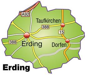 Landkreis Erding Variante 1