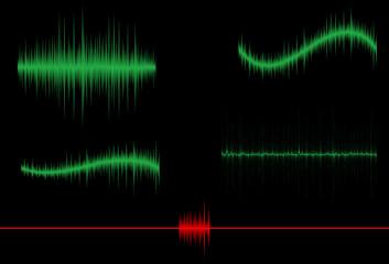 Fondo abstracto con diferentes tipos de ondas