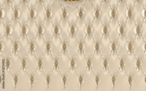 Luxurious beige texture, buttoned leather pattern. Royal