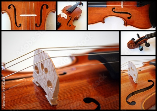 """Violin"" Collage (stringed instrument close-up musical)"