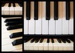 """Piano"" Collage (close-up musical instrument keyboard)"