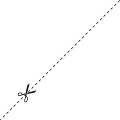 Ciseaux, pointillés