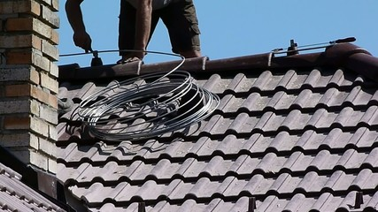 roofers lightning conductor