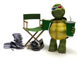 tortoise with a directors chair