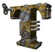 steampunk letter t