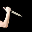 Woman holding knife