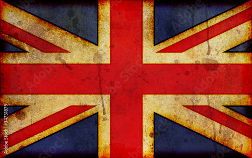 Grunge Union Jack Illustration