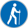 Gebotszeichen Wandern erlaubt gestattet Schild Zeichen