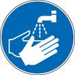 Gebotszeichen Hände waschen Schild Zeichen Symbol