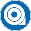 Gebotszeichen Reifen gegen Wegrollen sichern Unterlegkeil