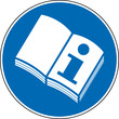 Gebotszeichen Handbuch Bedienungsanleitung lesen Zeichen
