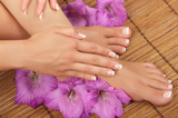 Fototapeta Pedicure and Manicure Spa