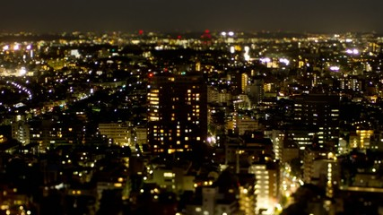 街の夕暮れ