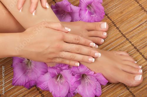 Deurstickers Pedicure Pedicure and Manicure Spa