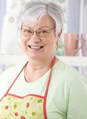Portrait of senior woman smiling happily