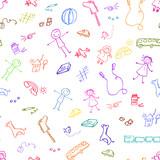 Fototapety toys pattern