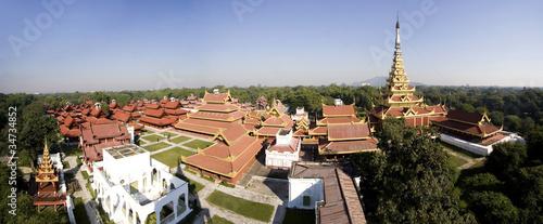 Mandalay Royal Palace, panoramic view