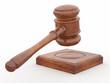 Judge gavel on white isolaed background