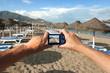Camera on Beach