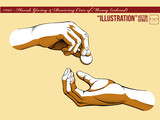 Illustration #005 Hands Giving & Receiving Money_colored