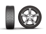 image sport wheels with alloy wheels on a white background poster