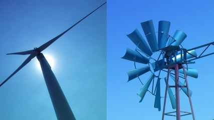 vintage and new dual wind power