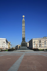 Monument on the Victory square in Minsk