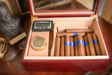 Humidor On Gentlemens Table