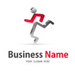 business logo, human icon