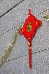closeup of chinese knot