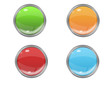 Button Set - Grün - Orange - Rot - Blau