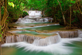 Fototapety Deep forest Waterfall in Thailand
