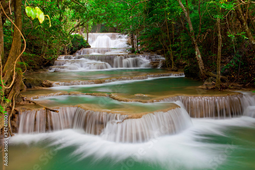 Fototapeta Deep forest Waterfall in Thailand