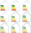Haus Energie Effizienzklassen - Set