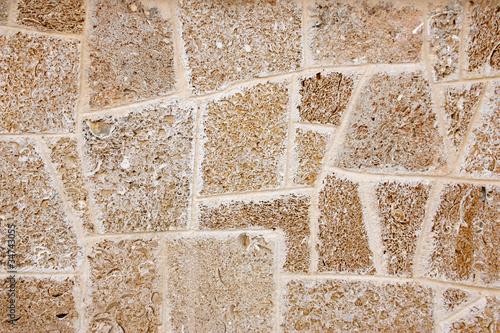 Wall of limestone