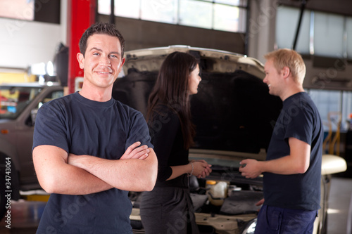 Friendly Happy Mechanic