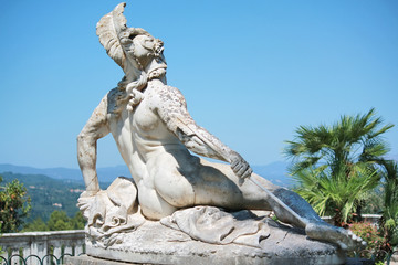 Achilles sculpture in Corfu