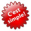 """Tampon """"C'EST SIMPLE"""" (simplicité efficacité vie pratique cool)"""